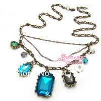 2013 New Fashionable Small Wholesale Jewelry Retro Elements of Pure Baroque gem Sweater Chain, Necklace