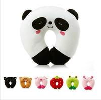 Brand New Arrival Cute Cartoon Panda Pattern Design Travel Car Home U Shape Neck Pillows Rest Pillow Free Shipping