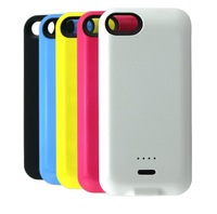10pc/lots Fedex DHL Free 2800mah Colorful Candy 5C Style 2 Battery Case for iPhone 5C External Battery