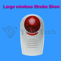 High quality Wireless Outdoor Strobe Flash Siren For Wireless GSM Auto Security Alarm System 433MHz Free shipping