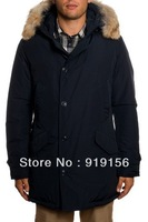 Free shipping 2013 Woolrich arctic parka man 100% down feather jacket man coat men's anorak outerwear upright pocket top quality