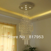 Large duplex minimalist chandelier lamp crystal chandelier stairs lamp works parlor restaurant lights chandelier crystal column
