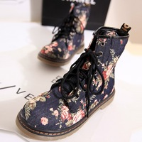 2013 fashion martin boots platform boots broken flower fashion vintage single boots autumn and winter women's shoes boots
