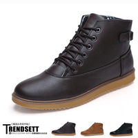 2013 fashion male high-top shoes liner cotton boots leather fashion vintage motorcycle boots martin