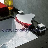 LED bathroom bathtub faucet Waterfall Mixer tap 3 colors free shipping LD8005-21A