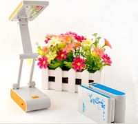3 in 1 Upgrade Foldable Folding Touch Controll Led  Table light Reading Light  Desk Lamp Free Shipping