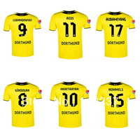 Hot sale 13/14 Borussia Dortmund BVB home yellow soccer football jersey best thai quality soccer uniforms embroidery logo