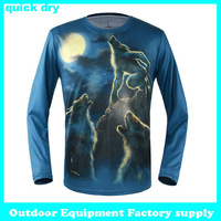 Hot sale new 2014 creative quick dry 3d t shirt personality long sleeve top tees sportwear men fashion 3d t shirt animal print