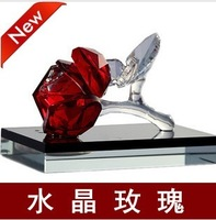 Free shipping 2013 quality NEW  fashion rose crystal car perfume seat Air freshener