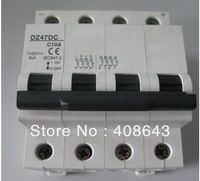'Best quality DZ47-63 Type 4P DC Circuit Breaker ( DC MCB Mini Circuit breaker )DC 1000V FOR PV ( Solar ) system