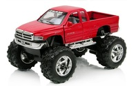 KiNSMART Pullback Toy Truck 1:44 Scale For Dodge Ram 1500 Black/Red/Green/Silver