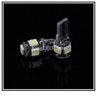 Free Shipping 1000pcs  Error Free T10 W5W 194 5050 SMD 5 LED Car Canbus LED Lamp NO OBC Error White Light Bulbs