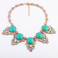 2013 New arrival Bohemia Pendant Chunky Necklace Fashion Chunky Exaggerated Necklace High Quality Free Shipping