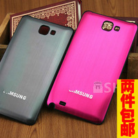 For samsung   i9220 metal wiredrawing battery cover i9228 cell phone case n7000 i889 protective case
