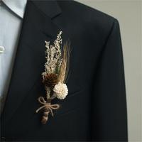 Wheatstalks the groom suit button flower - wedding 2013 autumn