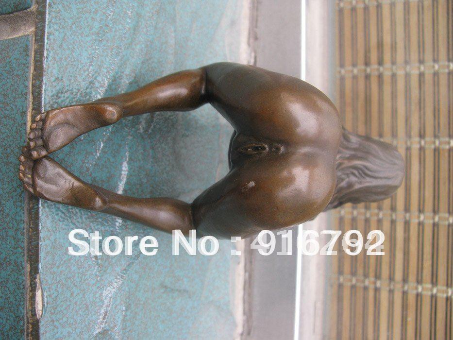 free P&P ***** larger nudes art captivating Beautiful naked nude lady sexy woman Bronze Statue(China (Mainland))