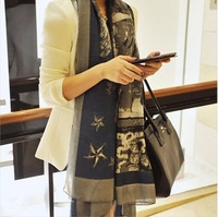 Free shipping!!! 2013 new autumn cotton scarf for women ladies' ethic printed scarf winter shawl(4 colors)