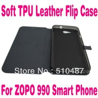 New Arrival Soft TPU Leather flip case cover Skin for ZOPO 990 Smart Phone