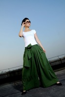 Card autumn linen pants trousers casual pants wide leg pants 96 - 3