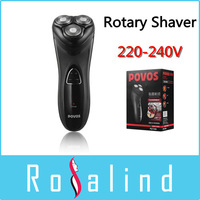 POVOS Electric Rotary Shaver PQ7200 (220-240V) Rechargeable Professional Razor Trimmer Men