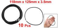 10 Pcs 125mm x 118mm x 3.5mm Mechanical Black NBR O Rings Oil Seal Washers