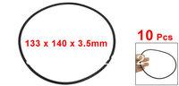 10 Pcs Black Nitrile Rubber O Ring NBR Seals Gaskets 140mm x 3.5mm
