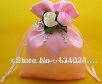 Most popular cheap free shipping satin gift packaging wedding candy bags