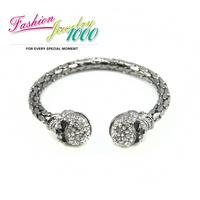 2013 New Fashion Punk Cool Rhinestone Skull Head Bracelet Designer Jewelry For Women Christmas Gift Free Shipping
