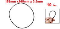 10 Pcs Metric O Rings Black Nitrile Rubber 165mm OD 3.5mm Thick