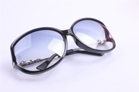 Female big frame retro vintage fashion brand name  202 sunglasses gradient color leopard head oculos de sol sunglasses women