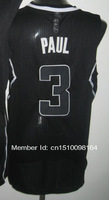 Cheap Sale #3 Chris Paul black Men's  Basketball jerseys free shipping accept mix order