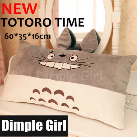 FREE SHIPPING rectangular long TOTORO pillow plush toy japanese style kawaii stuffed animal novelty item for christmas gift idea(China (Mainland))