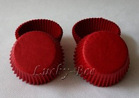 FREE SHIPPING 200 pcs dark red glassine paper cupcake liners cookie cutters cupcake containers for wedding