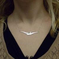 Hot Sale Necklaces Fashion 2013 6pcs Women Jewelry 2013 Silver Sparrow Charm Pendant Necklace