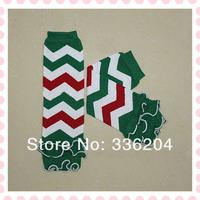 Free Shipping Christmas Cotton Chevron Leg Warmer With Ruffle 20 pairs/lot Many Colors