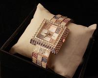 2013 square full rhinestone watch female personality famous brand ladies women watch ceramic watch diamond dress wristwatch