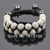 2013 new style white crystal shamballa bracelet