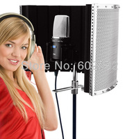Free Shipping Studio Microphone Diffuser Isolation Sound Absorber Foam Panel Shield Stand Mic
