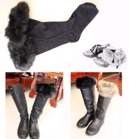 2013 autumn winter Fur socks short roll up hem autumn and winter knee-high socks boot covers socks