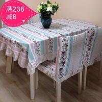 Cotton fabric cushion dining chair cushion chair back cover rustic chair cover