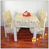Chair cover cushion dining chair set rustic bronzier western food table cloth set fabric chair covers fashion cushion