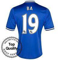 Free Shipping 13/14 Chelsea Home #19 Demba Ba Blue Jersey 2013-14 Cheap Soccer Uniforms Football Kit