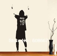 Free shipping 490mm*1310mm New Wall sticker Lionel Messi LA LIGA FOOTBALL Wall Mural Decal Home Decoration Art Vinyl M-65