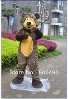 Hot Sale Free Shipping bear mascot costume adout Size Cartoon Mascot Costume