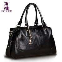 FOXER 2013 European and American Fashion New leather handbag Snake Print casual Women Bag Messenger bag Free shipping