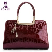 2013 European and American Fashion new Women leather handbag embossing patent leather handbag