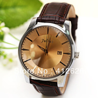 Hot Julius Unisex Watches For Men Women Ladies Watch Strips Indicate Round Dial Leather Wristwatch with Excelent Quality