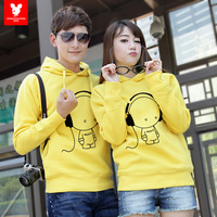 2013 pullover sweatshirt lovers autumn outerwear cartoon music plus velvet