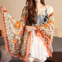 Free shipping!!! 2013 bohemia print  geometry ethic women's scarf  silk scarf newest korea autumn and winter scarf