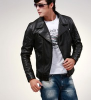 2013 New Autumn Winter Brand Men genuine Leather Jacket Coat  men motorcycle genuine leather jacket  Large Size M-2XL